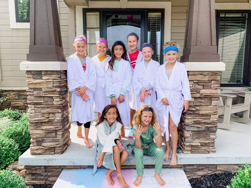 Teen at home spa party for birthday party event with Spa with Friends